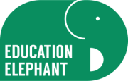 Education Elephant Green Logo