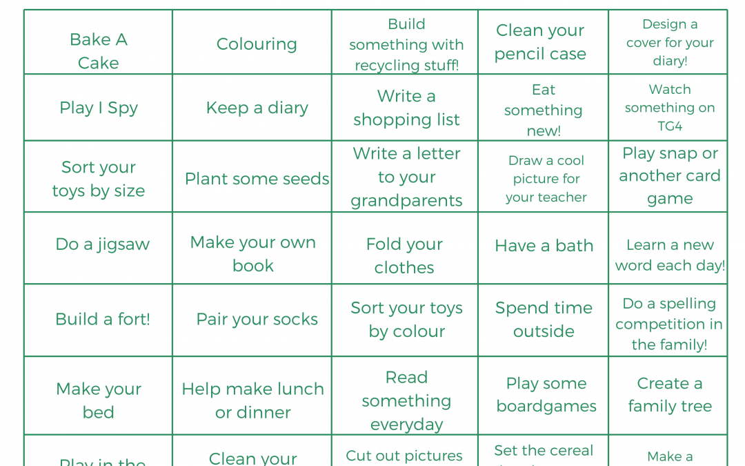 Home Activity Wall – Activities for Kid's at home!